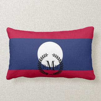 Laos Flag Lumbar Pillow