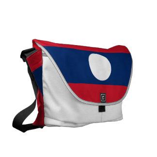 Laos Flag Messenger Bag