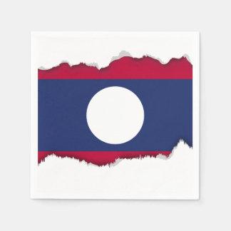 Laos Flag Napkin