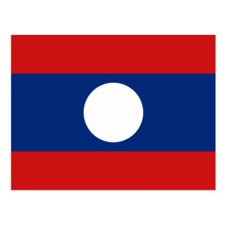 Laos Flag Postcard
