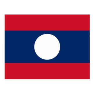 Laos Flag Postcard