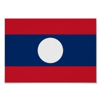 Laos Flag Poster