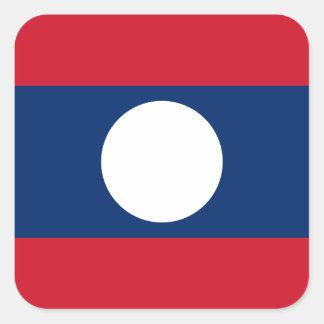 Laos Flag Square Sticker