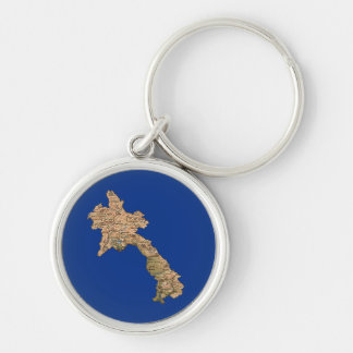 Laos Map Keychain