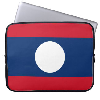 Laos National World Flag Laptop Sleeve