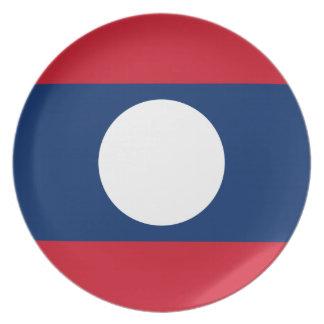 Laos National World Flag Plates