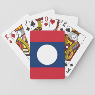 Laos National World Flag Playing Cards