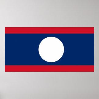 Laos National World Flag Poster