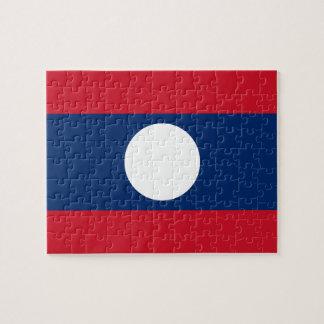 Laos National World Flag Puzzles