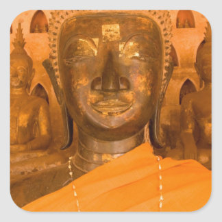 Laos, Vientiane, one of 6840 Buddha images in 2 Square Sticker