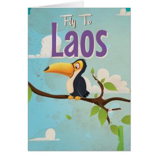 Laos Vintage vacation Poster Card