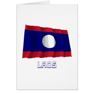 Laos Waving Flag with Name Card