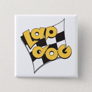 Lap Dog Flag - auto racing fan's button