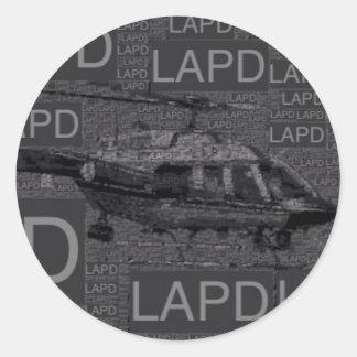 LAPD CLASSIC ROUND STICKER