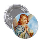 Lapel Pin: Angel Ponders 1 Inch Round Button