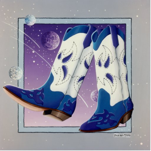 Lapel Pin, Broach - Electric Slide Cowboy Boots Photo Cutouts