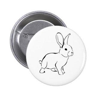 Lapin adorable de bande dessinée douce de lapin pin's