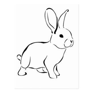 Lapin adorable de bande dessinée douce de lapin carte postale
