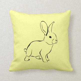 Lapin adorable de bande dessinée douce de lapin oreillers