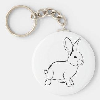 Lapin adorable de bande dessinée douce de lapin porte-clé