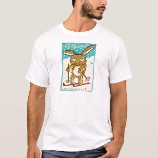 Lapin allemand de ski t-shirt
