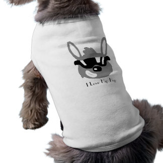 Lapin de bande dessinée avec des lunettes de solei t-shirt pour animal domestique