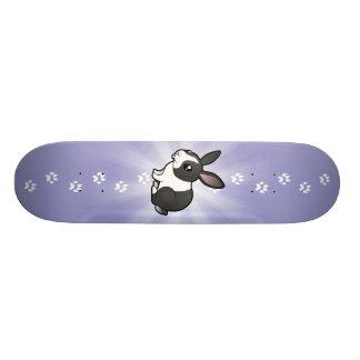 Lapin de bande dessinée (cheveux lisses d'oreille skateboards customisés