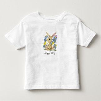 Lapin de bande dessinée dans la correction de t-shirt pour les tous petits