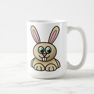 Lapin de bande dessinée tasse à café