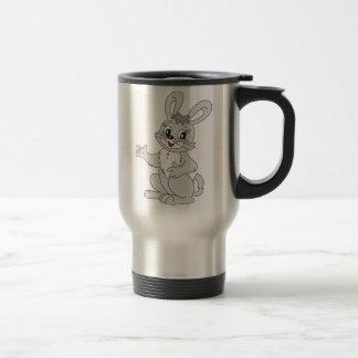 Lapin de bande dessinée tasses à café