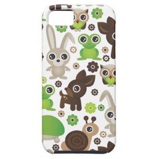 Lapin de cerfs communs de tortue de grenouille coque iPhone 5 Case-Mate