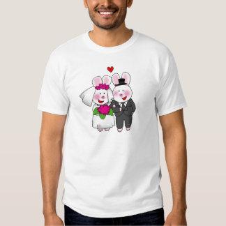 Lapin de jeunes mariés t-shirt