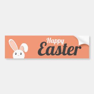 Lapin de Pâques heureux piaulant Autocollant De Voiture
