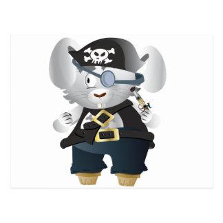 Lapin de pirate carte postale