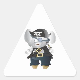 Lapin de pirate sticker triangulaire