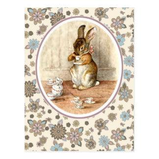 Lapin vintage. Cartes postales de Pâques