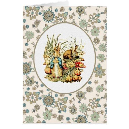 Lapins vintages par Beatrix Potter. Cartes de Pâqu