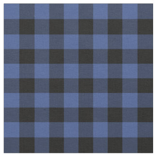 Lapis Blue Buffalo Check Plaid Fabric