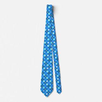 Lapis Blue Snowflakes Collection Designer Tie