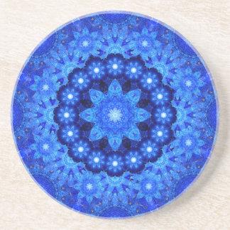 Lapis Crown Mandala Beverage Coaster