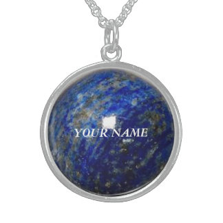 Lapis Image Medium Sterling Necklace - Personalize