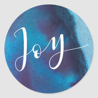Lapis Lazuli Joy Holiday Classic Round Sticker
