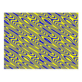 Lapis Lazuli Swirlies Abstract Pattern Postcard