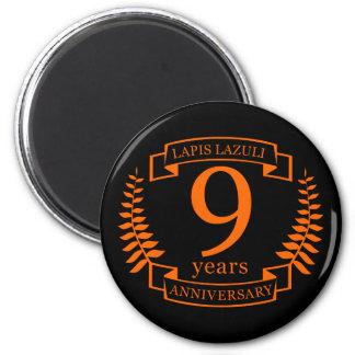Lapis Lazuli wedding anniversary 10 years Magnet