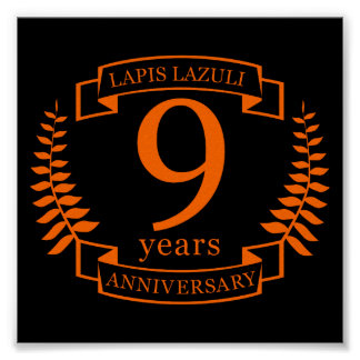 Lapis Lazuli wedding anniversary 10 years Poster