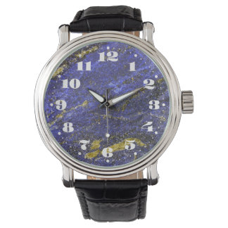 Lapis Lazuli with Numbers Watch