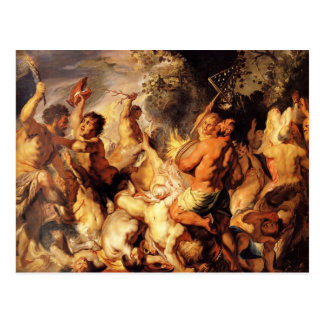 Lapiths and the Centaurs by Jacob Jordaens Postcard