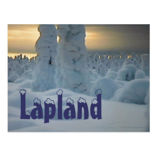 Lapland arctic winter  postcard