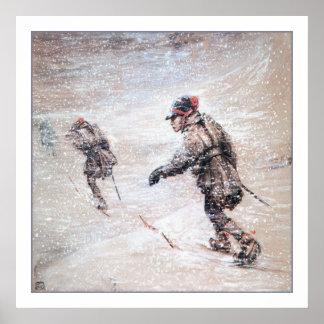 Laplanders in a Snowstorm Poster