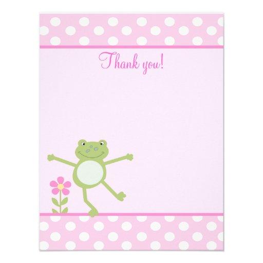 L'appartement Girly de Froggy de grenouille rose d Faire-part Personnalisé